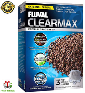 Fluval ClearMax Phosphate Remover,Chemical Filter Media Aquariums-  3x100g Bags