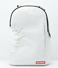 Sprayground Shark Bite Designer Fashion White School Laptop Skate Backpack Bag