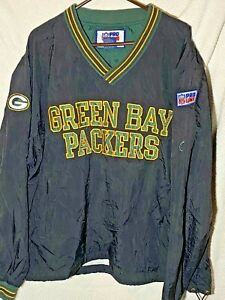 Green Bay Packers Vintage Pro Line By Champion NFL Pull Over Jacket Men Size Lg