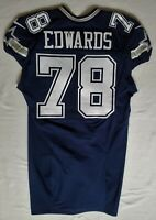 #78 Kadeem Edwards of Dallas Cowboys NFL Locker Room Game Issued Jersey