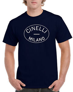 New Cinelli Old Logo Vintage Style T Shirt Tee