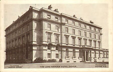 """early 1900s black and white postcard - the lord warden hotel dover """""""