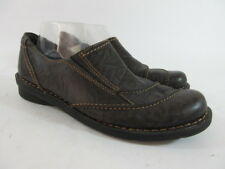 Clarks Nikki Cabaret Marbled Brown Leather Casual Shoes Zip Loafers Women's 11 M