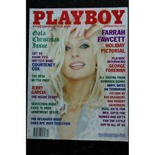 PLAYBOY US 1995 12 COVER FARRAH FAWCETT COURTENEY COX INTERVIEW George Foreman