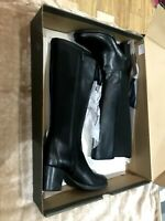 New Black Leather Knee High Timberland Boots Size 5.5 Heel Rrp£185 small heel