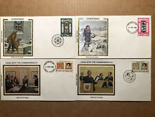 28 DIFFERENT ISLE OF MAN FDC'S  -  U/A COLORANO CACHETS