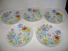 "Vintage Heinrich Primavera Salad Plate 7 7/8"" Set of 5 Excellent Condition RARE"