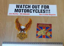 Harley Davidson jinetes de Gran Bretaña & HD & wofm calcomanías/Pegatinas