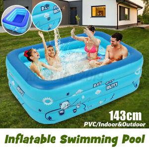Fast Aufblasbar Schwimmbecken Planschbecken Swimmingpool Garten Familien-Pool