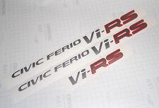 Complete Honda CIVIC FERIO Vi-RS DECAL SET - SILVER Color ViRS  EK3