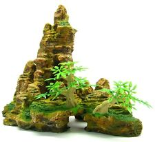 Mountain Aquarium Ornament tree 22.5cm H Rock Cave bonsai decoration fish tank