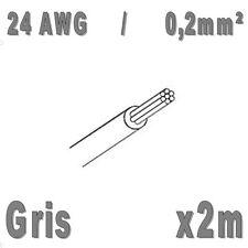 Fil de cablage 24AWG / 0,2mm² Gris 2m