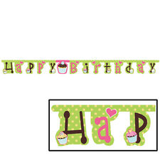 Cupcake Birthday Party Supplies  Banner