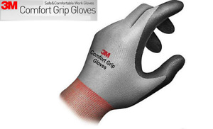3M Comfort Grip Work Gloves Nitrile Foam Coated Safety Work Glove LOT 1~10 Pair