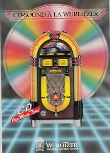 Original Wurlitzer 1015 OMT CD Jukebox Color Brochure Flyer