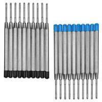 10 x Metall Großraum-Mine Blau o. Schwarz für Parker-System Kugelschreiberminen