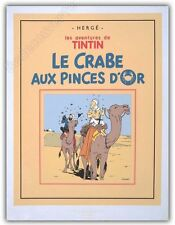 Affiche Serigraphie BD HERGE Tintin Crabes Pinces Or 2000ex 60x80