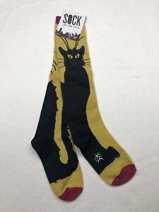 Sock It To Me Socks Goth Cat Knee High