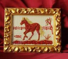 horse, art, sculpture 2d natural red coral mediterranean, quadri corallo