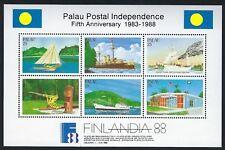 Palau - Postal Independence 1988 Mnh Mini Sheet. .Q36 - D 8D11