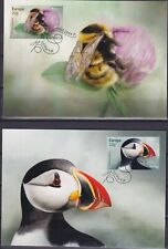 Norway 2021 Europa CEPT, Fauna, Insects, Bees, Birds Maxi Cards