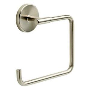 Delta LDL46-SN Lyndall Bathroom Towel Ring / Hook, Brushed Nickel