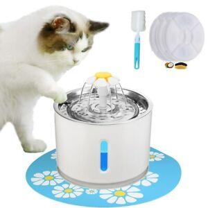 Wasserautomat Trinkbrunnen 2.4 L Wasserspender Haustierbrunnen für Katzen Hunde