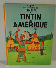 TINTIN en Amerique BD French Comic Book HERGE Casterman 1960s edition