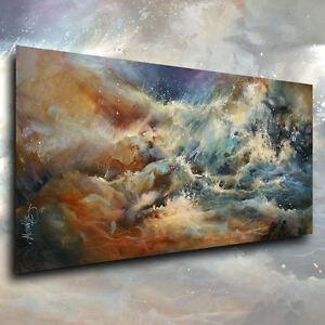 Seascape Impressionist Art Giclee canvas print 'Turmoil' Contemporary M.Lang
