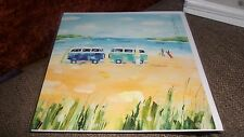 TRIP TO COAST SURFS UP - CLAIRE HENLEY MILKWOOD GREETING CARD BLANK ALL OCCASION
