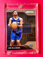 Zion Williamson PANINI PRIZM 2019-20 RC SENSATIONAL SWATCHES PLAYER WORN - Mint!