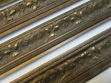3m (69x85cm) Traditional Ornate Gold Wooden Picture Frame Moulding 74mm (2nds)