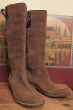 Timberlands Chestnut Brown Patchwork Suede Leather Boots Womens Sz 9M