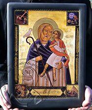 St Joseph & Jesus Orthodox Coptic Icons Gilding Handmade Artwork Gifts Big Size