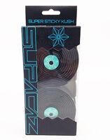 Supacaz Super Sticky Kush Road Bike Handlebar Tape, Galaxy Black/Celeste