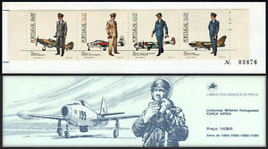 Portugal 1589-1592a, Booklet, MNH. Air Force Dress Uniforms and Planes, 1984