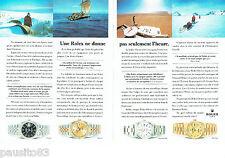 PUBLICITE ADVERTISING 096  1994  Rolex  (2p)  montre Datejust  Pr George Bass