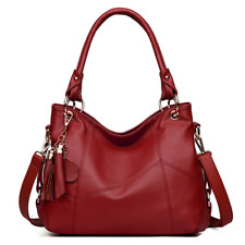 Women Genuine Leather Shoulder Bags Handbag Vintage Ladies Messenger Crossbody