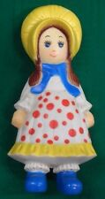 Vntg.Rubber Holly Hobby Type DOLL Stahlwood Co. NY Squeak Squeeze Toy  60's