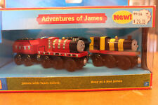 Thomas the Tank Engine Train Adventures of James Set NIB Wooden Learning Curve