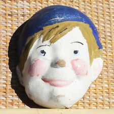 Ancien masque de carnaval Pierrot en carton