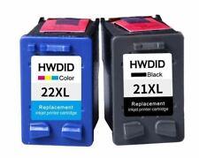 2 Pack Ink Cartridges Printer For HP 21XL 22XL Black Color Deskjet F4100 F4180