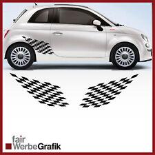 2 Stück Set Fiat Sticker Style Punto 500 Dekor Aufkleber Seitenstreifen #108