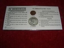 1964 KENNEDY (HALF DOLLAR 90% SILVER) VS LINCOLN IN MEMORIAM COIN SET
