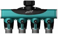 2wayz 4-Way Garden Hose Splitter - 3/4 Inch Adapter - Backwash Faucet Manifold