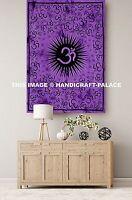 OM Meditation Indian Decor Mandala Tapestry Wall Hanging Hippie Throw Bohemian