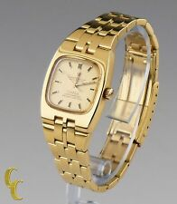 Vintage Omega Automatic Constellation Chronometer Solid 18k Yellow Gold Watch