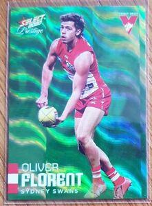 2020 AFL Select Footy Stars Prestige Green Parallel Oliver Florent LOWEST #001