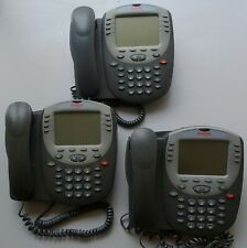 Lot of 3 Avaya 2420 Office digital multi-line phone w/stand