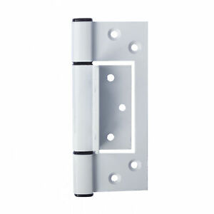 3 x Door Hinges 130mm  Heavy Duty Aluminium Fast-Fix Wrap around WHITE
